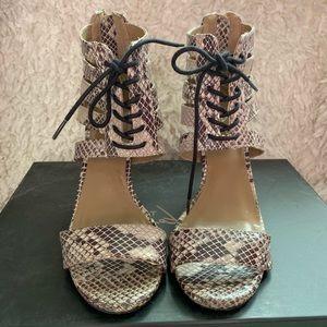 Report Signature zip up heels